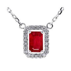Jewelry - Emerald Cut Ruby With Round Cut Diamonds 5.50 Ct.